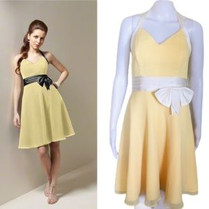 ALFRED ANGELO Halter Cocktail Dress Yellow Size 10